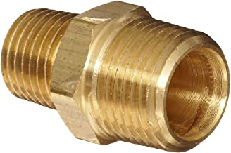 Anderson Metals Brass Pipe Fitting, Reducing Hex Nipple, 3/4