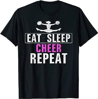 Vintage Eat Sleep Cheer Repeat Funny Cheerleading Love Gift T-Shirt