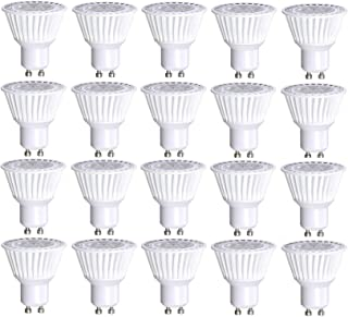 20 Pack Bioluz LED GU10 LED Bulbs 50W Halogen Replacement Dimmable 6.5w 3000K 120v UL Listed (Pack of 20)