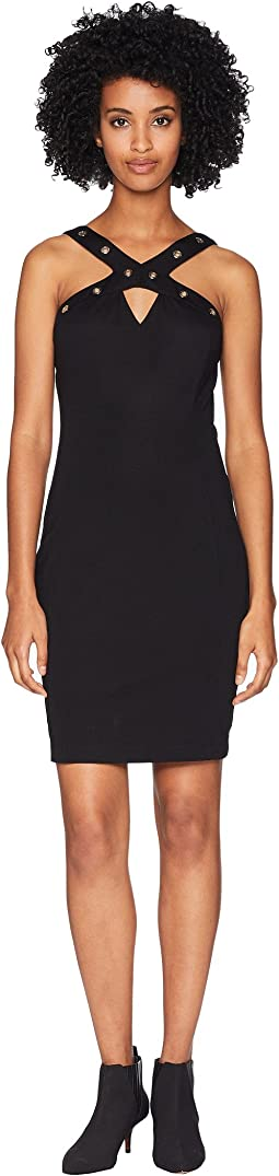 Grommet Sleeveless Dress