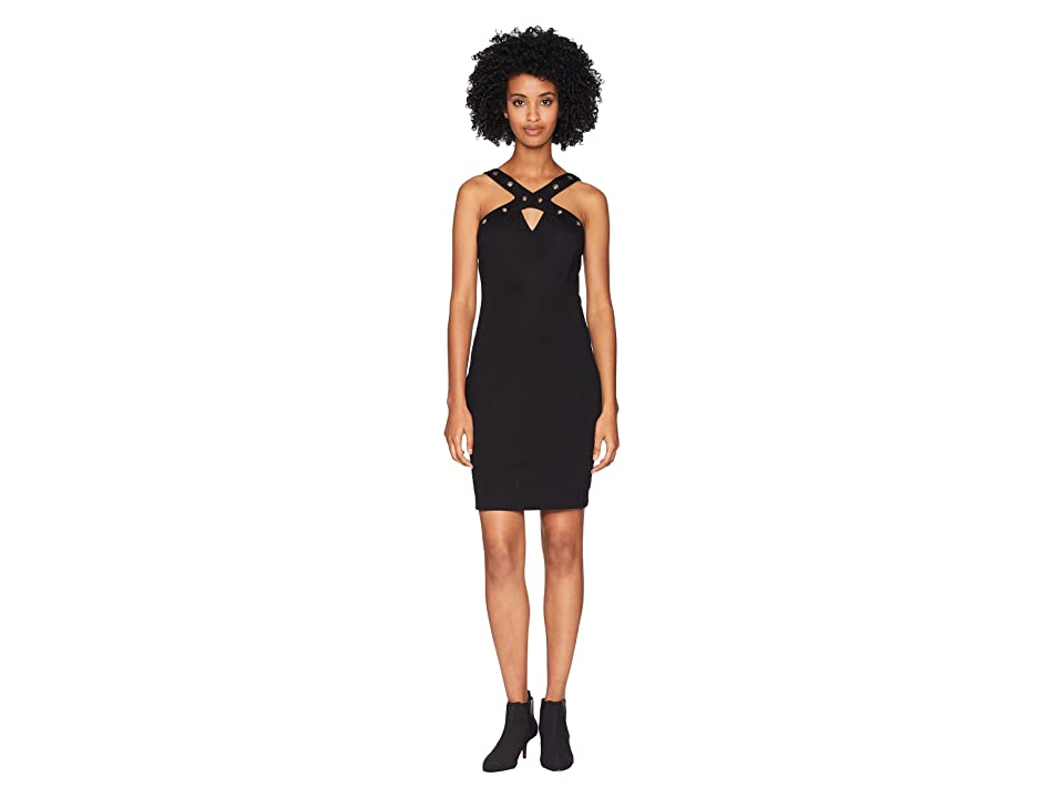 Versace Jeans Couture Grommet Sleeveless Dress (Nero) Women