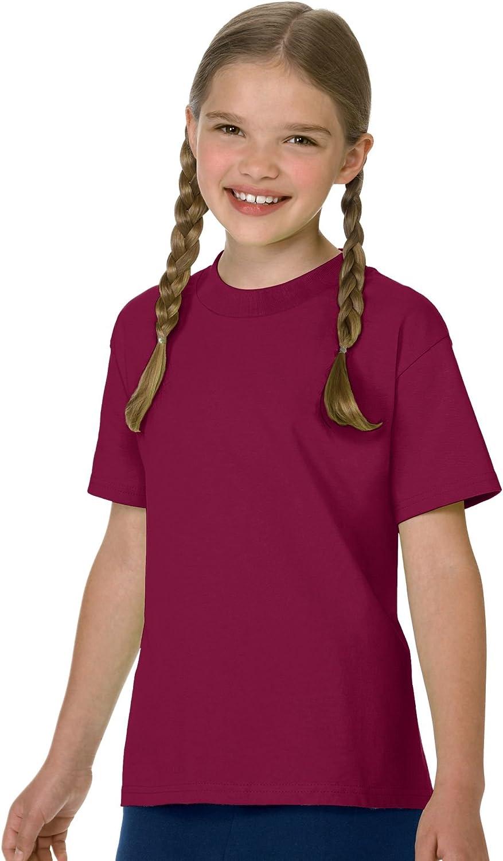 Hanes Children's Tagless T-Shirt (6 Pack),Cardinal,L US