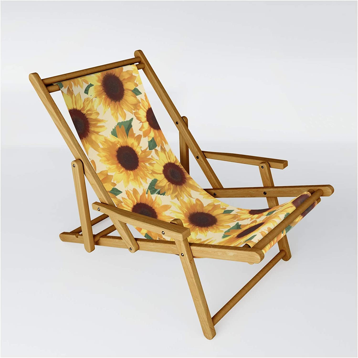 Minneapolis Mall Society6 Happy Yellow Sunflowers by Micklyn on Chair gift One Sling -