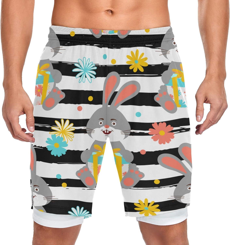 Running Cash special price Shorts Bunny online shop Cute Rabbit Sport Workou Men Training Holds