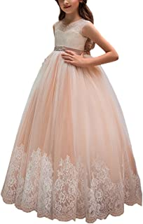 Flower Girl Dress for Wedding Kids Lace Pageant Ball Gowns