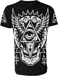 Rock MICKEY 666  Baseball  T-Shirt Darkside Occult Collection Goth