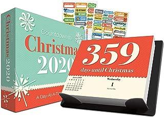 Countdown to Christmas 2020 Calendar, Box Edition Set - Deluxe 2020 Countdown to Christmas Day-at-a-Time Box Calendar with Over 100 Calendar Stickers (Xmas Gifts, Office Supplies)