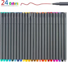 24 Colors Fineliner Color Pen Set, Fine Line Point Drawing Marker Pens for Writing Journaling Planner Coloring Book Sketching Taking Note Calendar Art Projects Office School Supplies