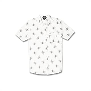 Volcom Little Boy's Marker Fade Button Up Short Sleeve Shirt