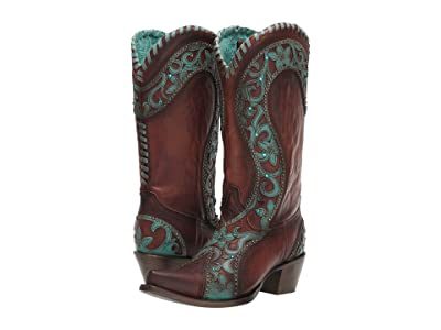 Corral Boots E1538 (Chocolate/Turquoise) Women