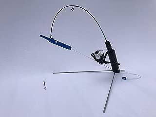 Krazywolf Auto Strike Kickback Ice Fishing Hook Setter and Rod Holder Tip Up