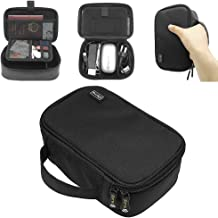 sisma Travel Electronics Organiser Case for Cables Power Cords Hard Drives USB Memory Laptop Adapter Mouse Small Accessories Carrying Bag -Black 1000D Fabrics SCB17092B-OB