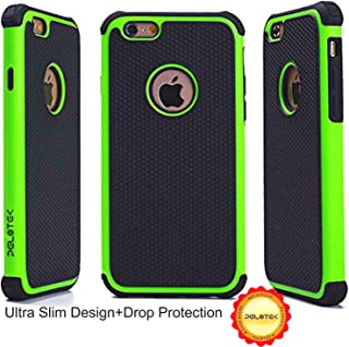 iPhone 6 Case /iPhone 6s case, Pelotek Scratch Resistant Triple Layer Ultra Slim Design ✮[Green / Black] Drop Protection T...
