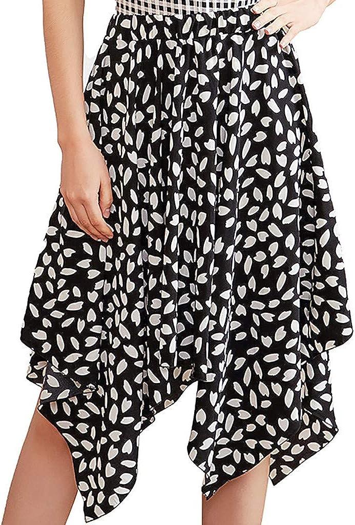 FONMA Women's Fashion Skirt Bohemian Half-Length Print Skirt Casual Retro Skirt