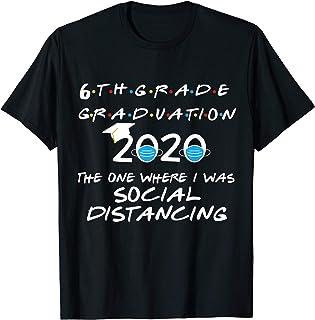 6th Grade Graduation 2020 Social Distancing Quarantined T-Shirt