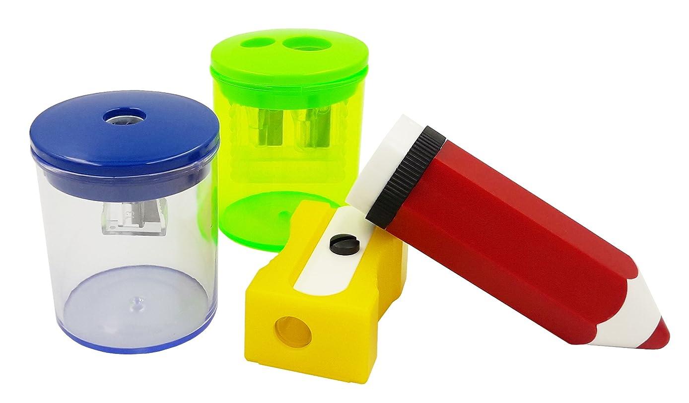 Eisen Plastic Pencil Sharpeners mix set 4 Pcs.