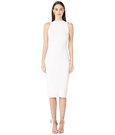 Cushnie Sleeveless Knit Pencil Dress with Curved Style Line (White) Women