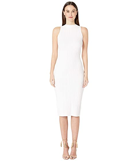Cushnie Sleeveless Knit Pencil Dress with Curved Style Line