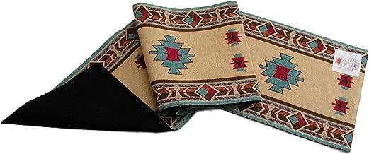 مفرش طاولة RaaKha Carrizo Southwest من Raa Kha، تصميم Desert Sand متعددة الألوان، مقاس 33.02 × 182.88 سم