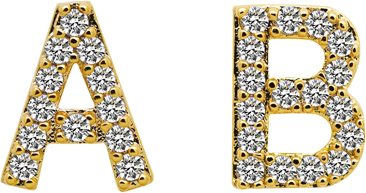 Vpang 18K Gold Plated Hip Hop Teeth Iced CZ latest Luxury goods 26 Out Grillz Initia
