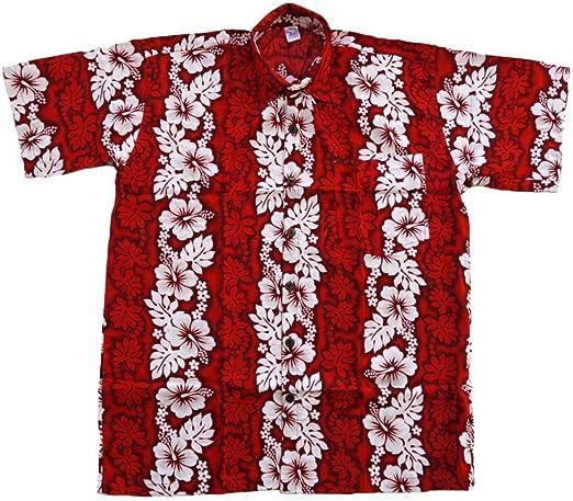 Hawai - Camisa hawaiana de viscosa, diseño de flores, color ...