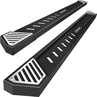 """OEDRO 6.5"""" Running Boards Compatible with 2019-2021 Dodge Ram 1500 Crew Cab, Textured Black Steel Nerf Bars Side Step Rail..."""