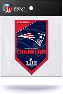 NFL New England Patriots Super Bowl LIII Champions Die Cut Static Cling Decal