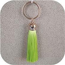 Tassel Key Chain women Cute Tassel KeyChain bag accessory - Silk Tassels Car Key ring