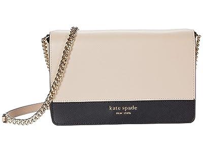 Kate Spade New York Spencer Chain Wallet (Warm Beige/Black) Handbags