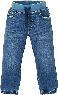 Wrangler Unisex-Child Authentics Toddler Boy's Knit Denim Pull on Jean Jeans - Blue