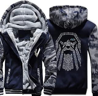 Men Hoodies Winter Camouflage Thick Fleece Hooded Sweatshirt Hip Hop Fashion Harajuku Zip Up Hoodie