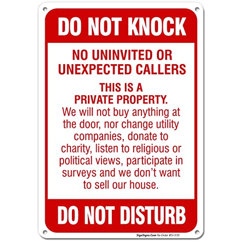 graphic regarding Printable No Soliciting Sign called No Soliciting Signs or symptoms for Properties: