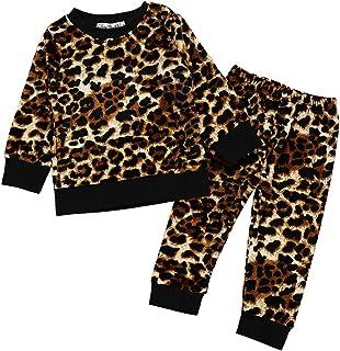 GObabyGO2 Pcs Fashion Toddler Kids Baby Girls Velvet Clothes Outfit Pant Set Fall Winter