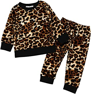 2 Pcs Fashion Toddler Kids Baby Girls Velvet Clothes Outfit Pant Set Fall Winter