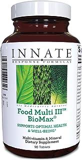 INNATE Response Formulas - Food Multi III BioMax, Herb Free Foundational Multivitamin, 90 Tablets