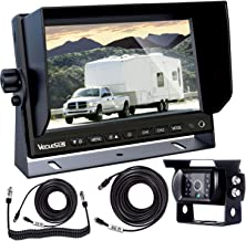 "VECLESUS Backup CameraKitfor Semi-TrailerTruck, 7""WideMonitorwith InfraredNight VisionIP68 Waterproof Backup Camera for TruckTrailers,Motorhome, Semi-Trailer,Semi Truck,Tractor"