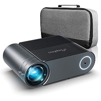 Proiettore,Elephas Videoproiettore Full HD 4800 Lumen da 50000 ore, Proiettore Home Theatrer 200 Pollici da 1080P Compatibile con PS4, PC via HDMI, VGA, TF, AV, and USB (con borsa)