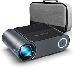 Proyector, proyector Elephas Full HD 5000 Lumen de 50000 Horas, proyector Home Theatrer de 200 Pulgadas 1080P Compatible con PS4, PC a través de HDMI, VGA, TF, AV y USB (con Bolsa) (Black)