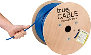 Cat6A Shielded Plenum (CMP), 1000ft, Blue, 23AWG Solid Bare Copper, 750MHz, ETL Listed, Overall Foil Shield (FTP), Bulk Ethernet Cable, trueCABLE