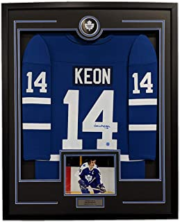 Dave Keon Toronto Maple Leafs Signed Retro Style 35x43 Framed Hockey Jersey