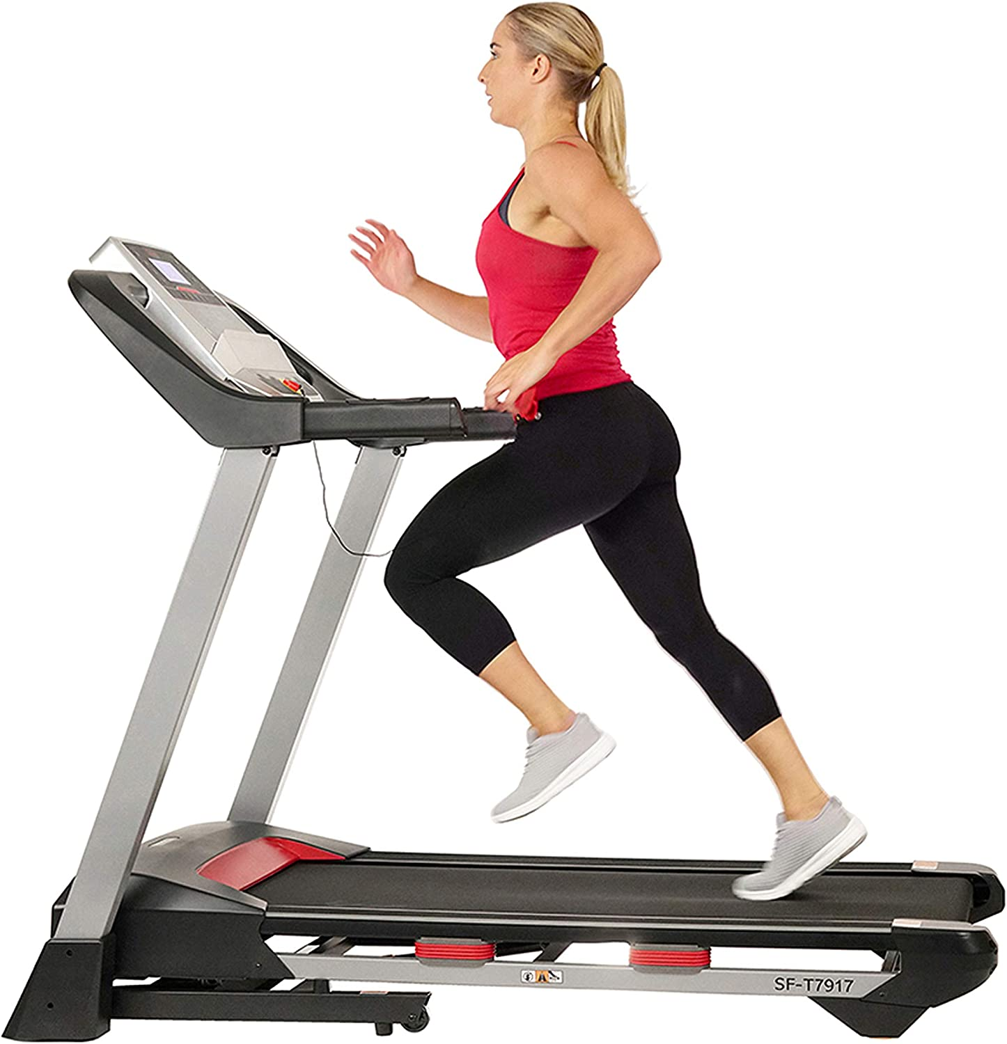Amazon.com : Sunny Health & Fitness Folding Treadmill for Home Exercise  with 265 LB Capacity, Device Holder, Bluetooth Speakers and USB Charging -  SF-T7917 : Sports & Outdoors