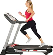 Sunny Health & Fitness Folding Treadmill for Home Exercise with 265 LB Capacity, Device Holder, Bluetooth Speakers and USB...