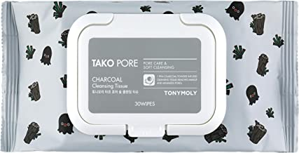 TONYMOLY Tako Pore Charcoal Cleansing Tissue, 160g