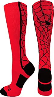Crazy Spider Web Over The Calf Athletic Socks