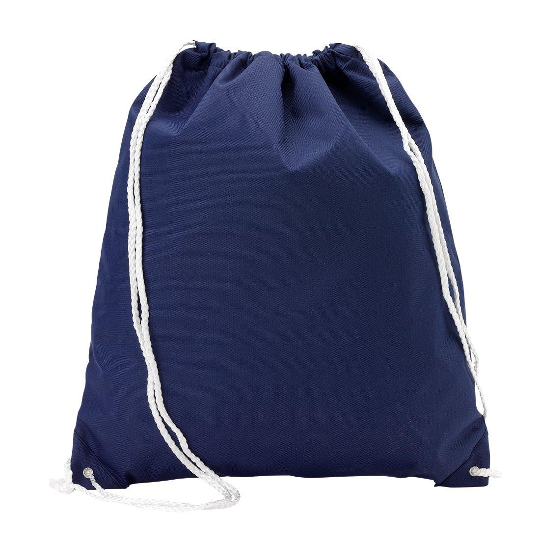 卸売ブティックバックパックスタイル巾着フィットネスバッグピュア*ブルー