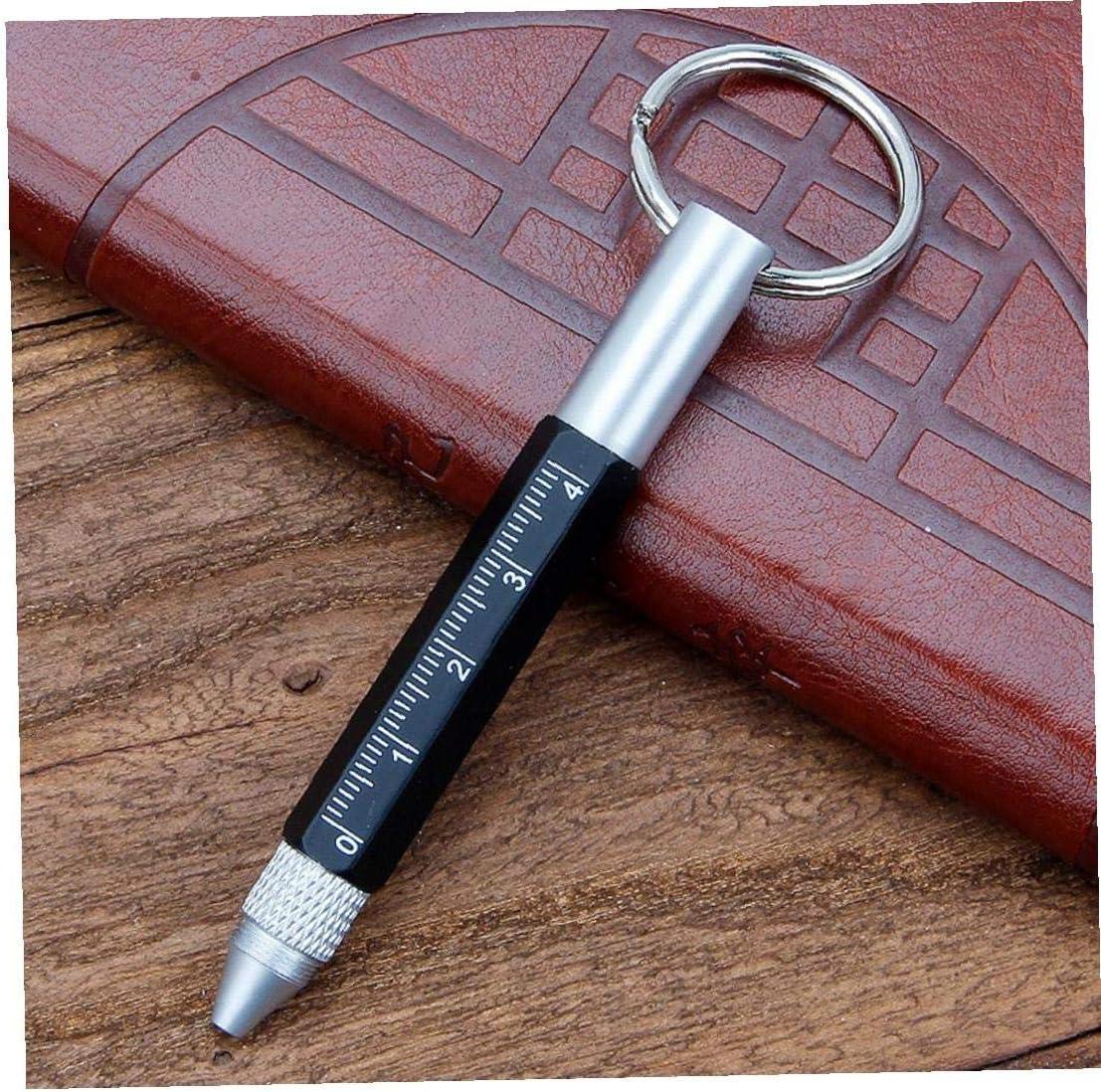 Stylo multifonction 6 en 1 Tech Pen Handy Outil avec Rulers porte-cl/és Stylus Fit pour Hommes Visseuses cadeau