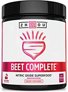 Zhou Beet Complete | Nitric Oxide Superfood Powder | Preworkout Formulated to Boost Performance & Heart Health | Black Che...