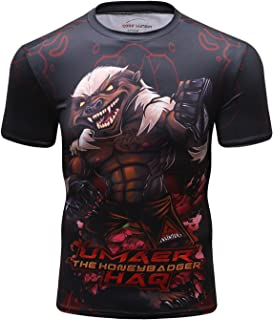 Red Plume Men's Compression T Shirts 3D Printed Crewneck Pattern Tops Short Sleeve Sport Shirt Base Layers Graphics Tees