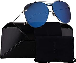 7e90573ee0f3 Christian Dior Homme Dior0222S Sunglasses Palladium Blue w Blue Mirror Lens  99mm DOH2A Dior0222