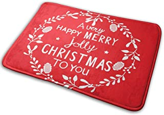 YINCHAOJI Bathroom Rugs Bath Mat Door Mats Happy Christmas Jubilant Torse Memory Foam Front Kitchen Rug Carpet for Kitchen...